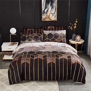 Housse de Couette 220x240 cm avec 2 taies d'oreiller 50x70 cm - Parure de Lit 2 Personnes Ensemble de literie King - Ensem...