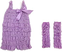 Rush Dance Baby/Toddler Girls Layered Lace Ruffle Petti Romper & Leg Warmers Set