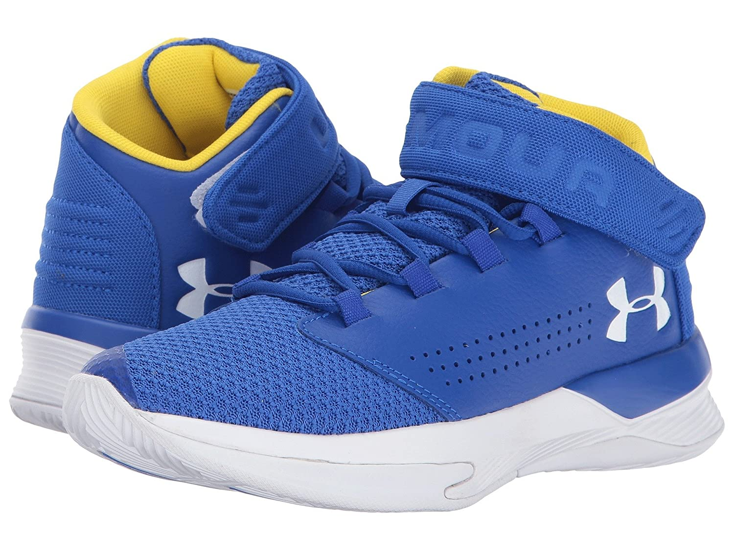 (アンダーアーマー) UNDER ARMOUR キッズバスケットボールシューズ?靴 UA BGS Get B Zee Basketball (Big Kid) Team Royal/White/White 6.5 Big Kid (25.5cm) M