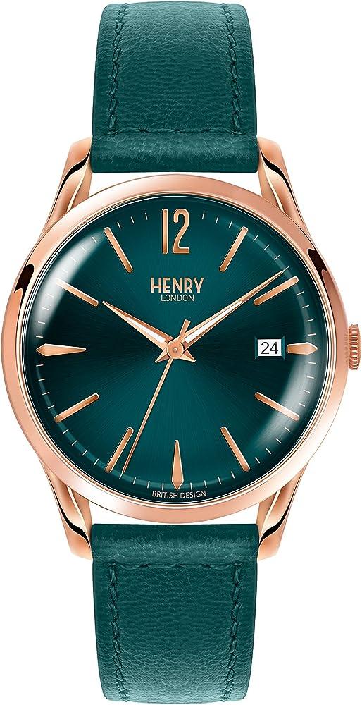 Henry london orologio analogico donna con cinturino in pelle HL39-S-0134