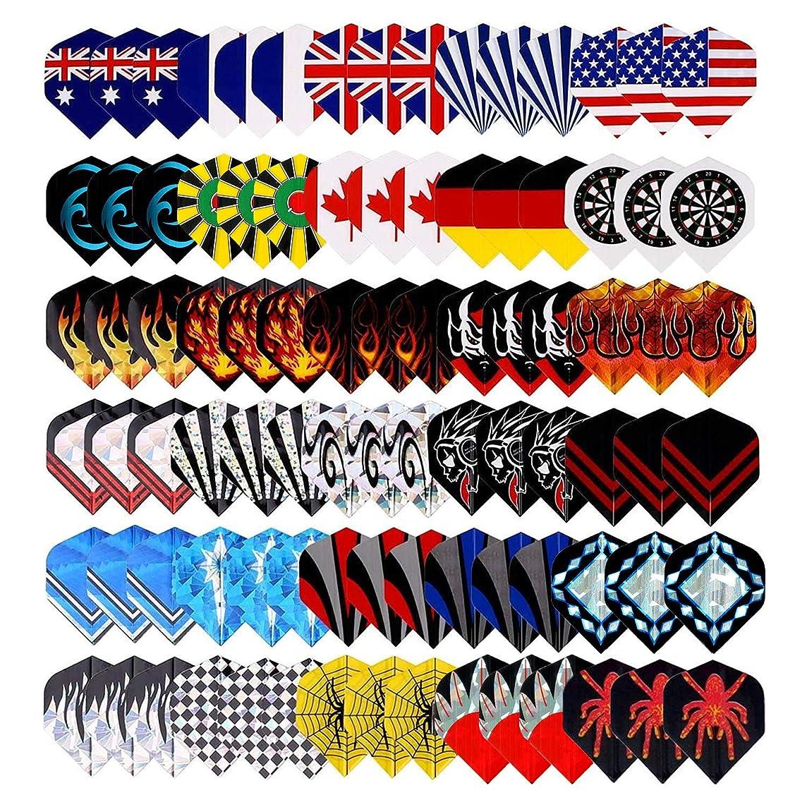 25 Sets(75Pcs) Long Life Durable Nylon Dart Flights Sets Wholesale National Flag Rich Variety Of Cool Styles Bling Long Life Laser Darts Flights