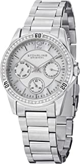 Stuhrling Original Women's 914.01 Marina 914 Quartz Watch With Silver Dial Analogue Display and Silver Stainless Steel Bra...