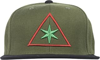 e0c126c74a6 Black Scale 6 Points Mens Snapback Hat in Olive
