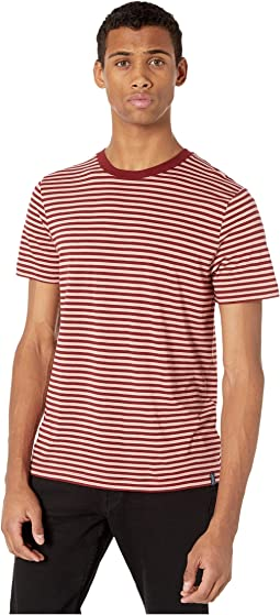 Chic Striped Crew Neck Tee in Tencel Quality