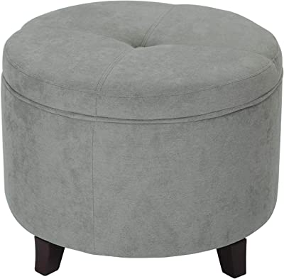 Brilliant Amazon Com Efd Small Round Ottoman Lift Open Lid Wood And Pdpeps Interior Chair Design Pdpepsorg