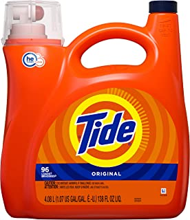 Tide Original Liquid Laundry Detergent, 96 Loads, 4.08L