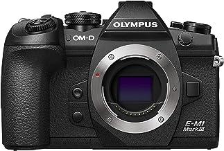 Olympus OM-D E-M1 Mark III Micro Four Thirds Systemkamera Gehäuse, 20 MP Sensor, 5-Achsen Bildstabilisierung, Leistungsstarker Autofokus, 4K Video, Wi-Fi, Bluetooth, Schwarz