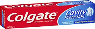 Colgate Cavity Protection Toothpaste, 175g, Great Regular Flavour, Fluoride Toothpaste with Liquid Calcium