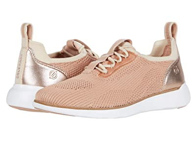 Cole Haan Zerogrand Global Trainer (Mahogany Rose Knit/Brazilian Sand/Rose Gold/Optic White) Women