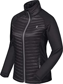 Women's Insulated Hiking Jacket, Thermal Running Hybrid Jacket, Lightweight Breathable and Warm