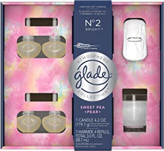 Glade Atmosphere Collection, 1 Warmer, 4 Refills, 1 Candle, No. 2 Bright