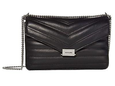AllSaints Justine Crossbody (Black) Handbags
