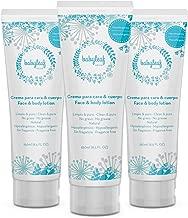 3 x Crema bebé hidratante para Carita & Cuerpo - Bebés - Babyleaf - kit 3 tubos de 250ml - Baby Lotion Face & Body - 100% Natural - Hipoalergénico - Sin Fragancias - No Graso