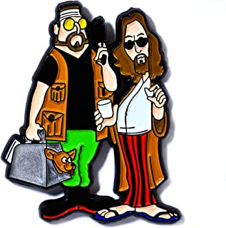 Jeff `The Dude' Leboswki and Walter Sobchak The Big Lebowski Cult Movie Pendant Lapel Hat Pin