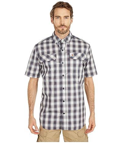 Carhartt TW258 Force Relaxed Fit Short Sleeve Plaid Shirt (Bluestone) Men