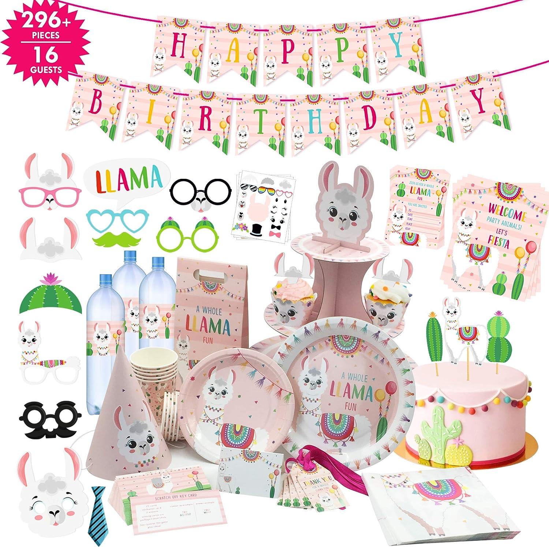 National uniform free shipping Llama Birthday Party Regular store Supplies Decor 296 Items Lla 22 I PCs