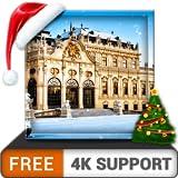 無料の降雪を凍結-HD 8k 4kテレビでクールな大雪とクリスマスと冬を楽しみ、調停と平和の壁紙とテーマとして