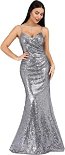 Women Sequin Evening Prom Formal Mermaid Gowns 7339