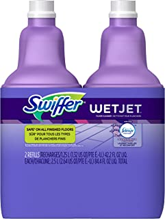 Swiffer Wetjet Hardwood Floor Mopping and Cleaning Solution Refills, All Purpose Cleaning Product, Lavender