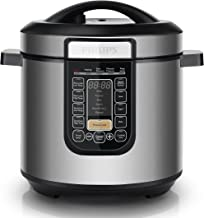 Philips Viva Collection All-in-One Multi Cooker/Pressure Cooker/Slow Cooker with Non-stick Inner Pot, 6L, 1000W, Silver, HD2137/72