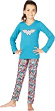 Wonder Woman Big Girls' Digi Yoga 2 Piece Pajama Set