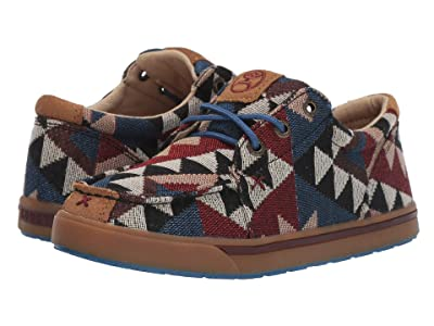 Twisted X Hooey Loper (Little Kid/Big Kid) (Graphic Pattern Canvas) Shoes
