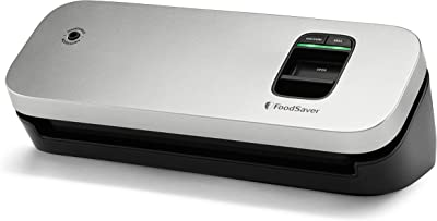 FoodSaver 31161366 Space Saving Food Vacuum Sealer, Silver