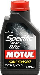 Motul Specific 505 01 502 00 505 00-5W40 1L (Pack of 2)