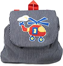Toddler Helicopter Backpack for Boys Preschool Small Denim Rucksack Made in USA