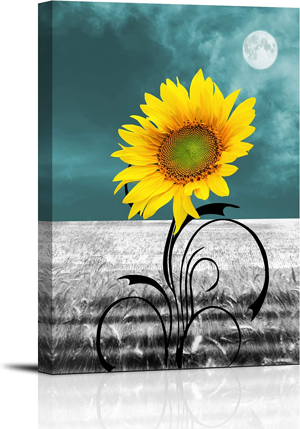 Canvas Prints for Bedroom Simple Max 80% Fashion OFF and Yellow Life Sunflower Blue