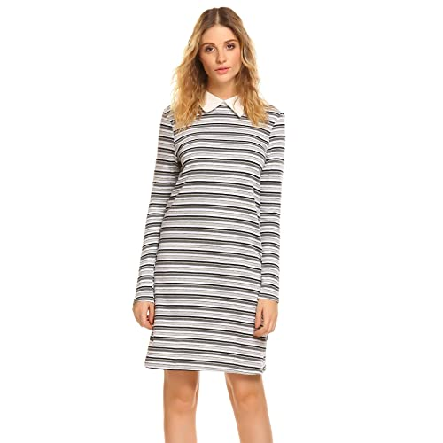 Beautiful Stories Womens Longsleeve Shift Dress
