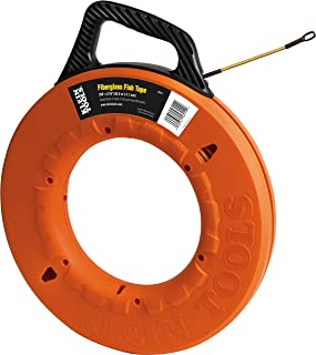 Fish Tape 200-Foot is Non-Conductive Fiberglass, Flexible for Conduit Measuring as Pull Line Klein Tools 56014