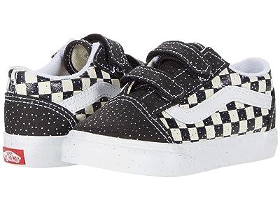 Vans Kids Old Skool V (Infant/Toddler) ((Confetti) Black/True White) Kids Shoes