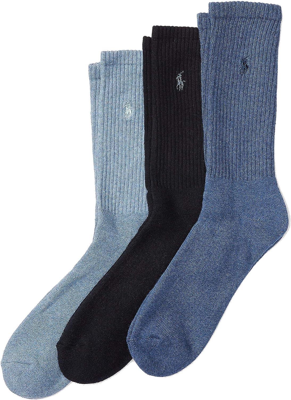 Polo Ralph Lauren Men's Ribbed Crew Socks - 3 Pack