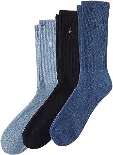 Men's Ribbed Crew Socks - 3 Pack