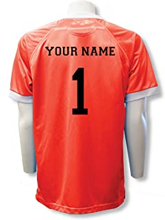 65680729e Short Sleeve Goalie Jersey Personalized with Your Name and Number (with  free keeper pin)