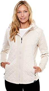 BE BOUNDLESS Women's Water-Resistant Cache Diamond Quilted Hooded Jacket