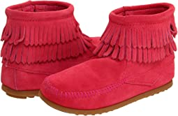 Minnetonka Kids Side Zip Double Fringe (Toddler/Little Kid/Big Kid)