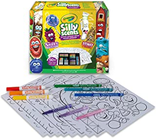 Crayola Silly Scents Scented Mini Art Case Set, Includes 16 Mini Twistables Crayons, 8 Slim and 8 Broad Line Washable Scen...