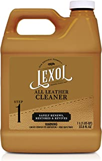 Lexol Leather Cleaner, 1 Liter, Best Cleaning and Conditioner Since 1933 - For Use on Apparel, Furniture, Auto Interiors, Shoes, Bags and More - Packaging May Vary