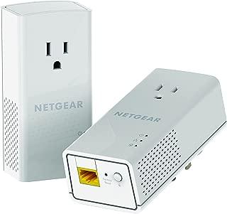 NETGEAR PowerLINE 1200 Mbps, 1 Gigabit Port with Pass-Through, Extra Outlet (PLP1200-100PAS)
