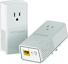 Best NETGEAR PowerLINE 1200 Mbps, 1 Gigabit Port with Pass-Through, Extra Outlet (PLP1200-100PAS),Pale Gray Reviews