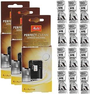 Äkta Melitta Perfect Clean kaffemaskiner rengöringstabletter (paket med 12)