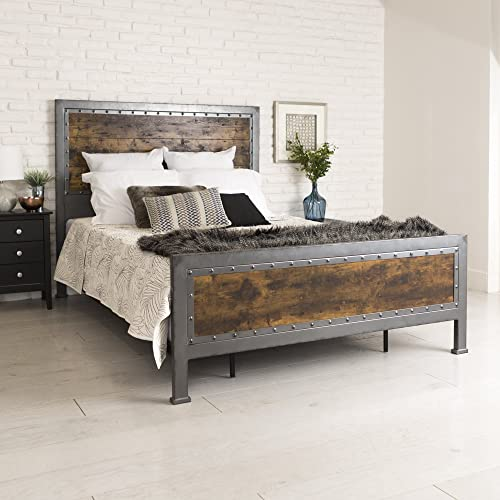 Rustic Wood Bed Frames Amazon Com