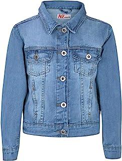 Kids Girls Jackets Designer Light Blue Denim Jeans Jacket Stylish Fashion Coats