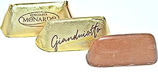 Monardo, Italian Gold Gianduiotto Smooth Blend of Milk Chocolate w/ Rst Hazelnut Butter (Gianduia) (50 pcs)