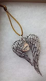 Mom Memorial Angel Wings Christmas Ornament In Memory Sympathy Bereavement Keepsake Gift