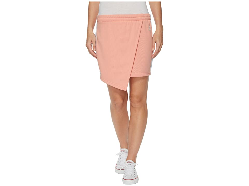 Converse Star Chevron Track Skirt (Pale Coral) Women