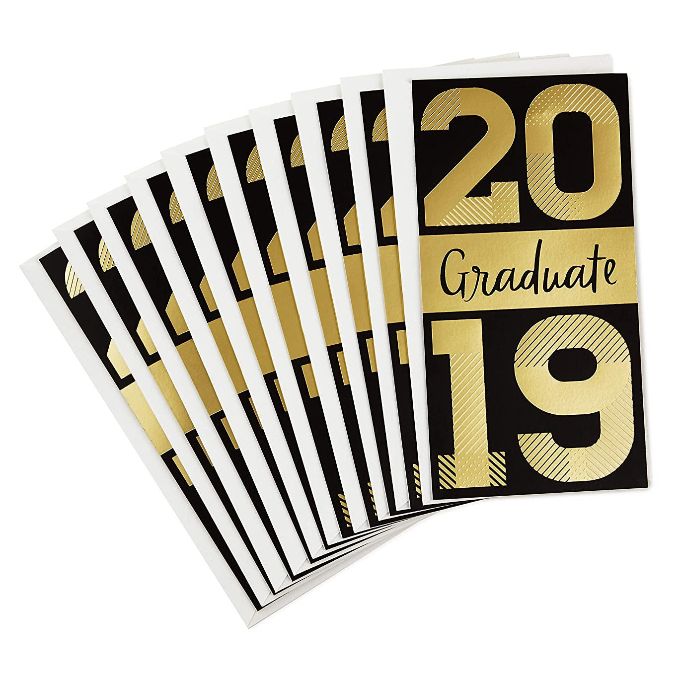 Hallmark 2019 Pack of Graduation Cards Money Holders or Gift Card Holders, It's Your Moment (10 Cards with Envelopes)