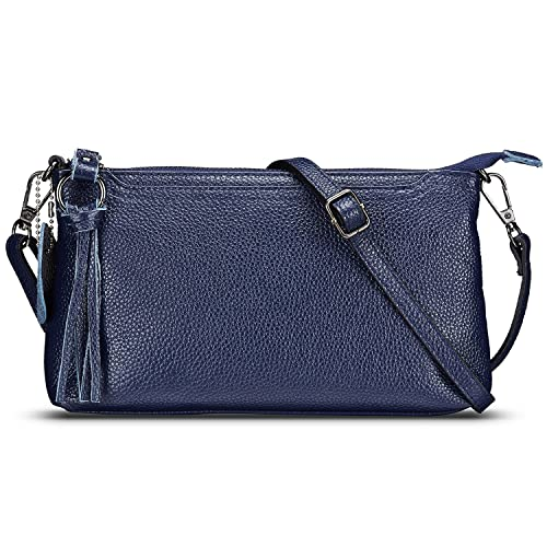 8b4c07095d Lecxci Womens Small Leather Crossbody Bag